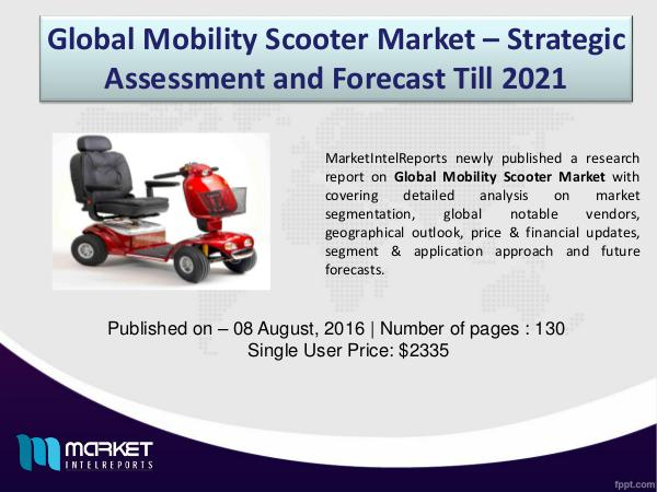 Mobility Scooter Price Trend in US 2015-2021 ($) 1