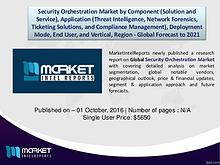 Global Security Orchestration Market Outlook Till 2021 | Revenue Mode