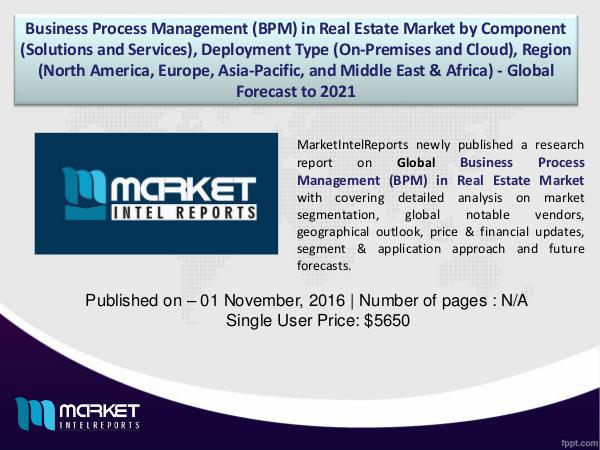 Business Process Management (BPM) in Real Estate Market 1
