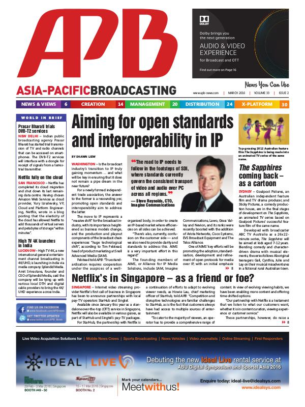 Asia-Pacific Broadcasting (APB) March 2016 Volume 33, Issue 2