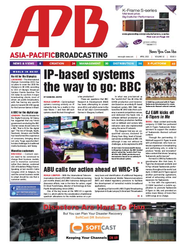Asia-Pacific Broadcasting (APB) April 2015 Volume 32, Issue 3