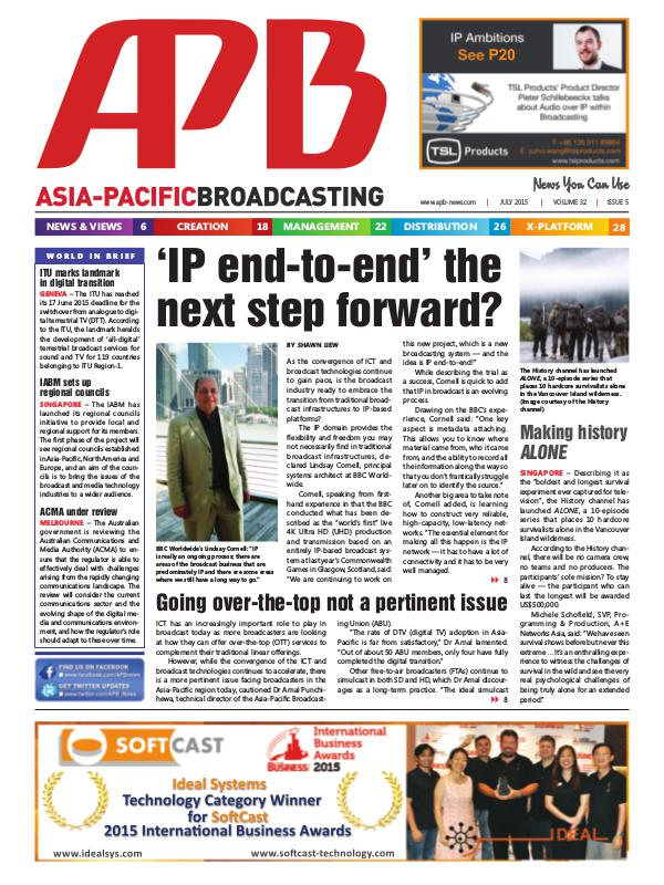 Asia-Pacific Broadcasting (APB) July 2015 Volume 32, Issue 5