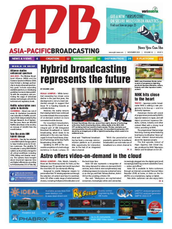 Asia-Pacific Broadcasting (APB) November 2015 Volume 32, Issue 9