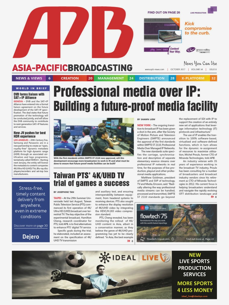 Asia-Pacific Broadcasting (APB) October 2017 Volume 34, Issue 8