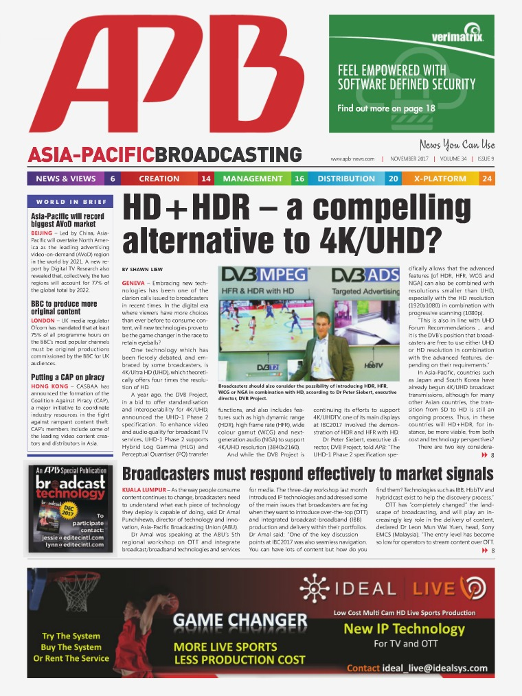 Asia-Pacific Broadcasting (APB) November 2017 Volume 34, Issue 9