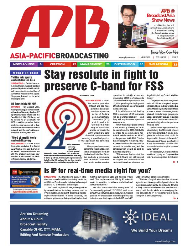 Asia-Pacific Broadcasting (APB) April 2018 Volume 35, Issue 3