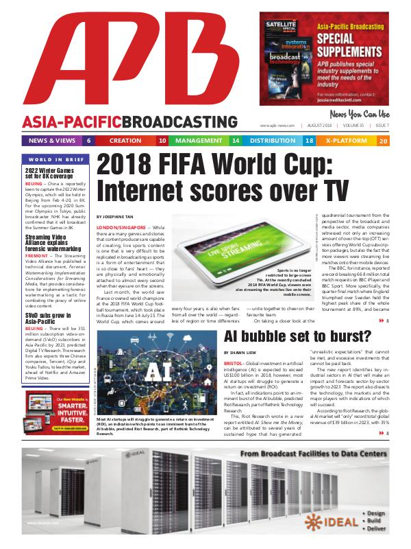 Asia-Pacific Broadcasting (APB) August 2018 Volume 35, Issue 7