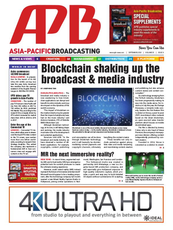 Asia-Pacific Broadcasting (APB) September 2018 Volume 35, Issue 8