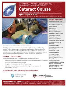Annual Intensive Cataract Surgical Training Course