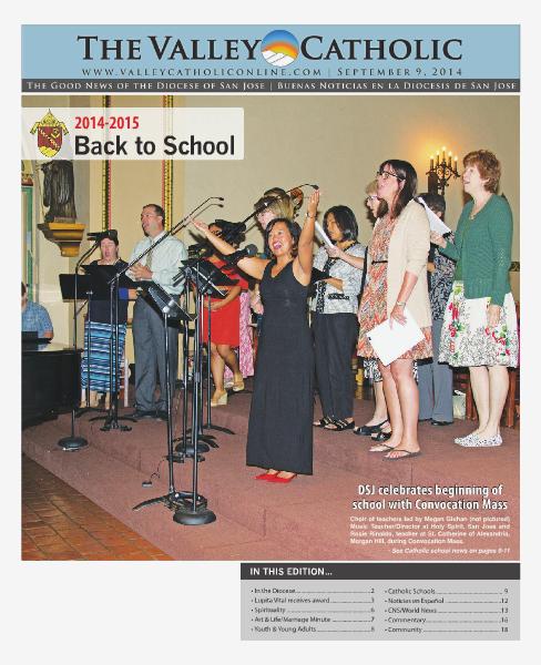 The Valley Catholic September 9, 2014