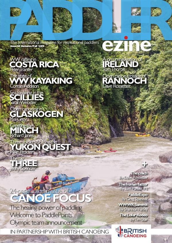 The Paddler ezine Issue 50 Autumn/Fall 2019