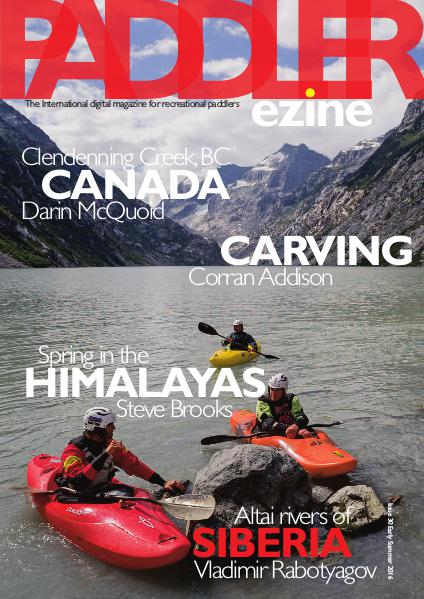 Issue 30 Early Summer 2016 Kayak cover
