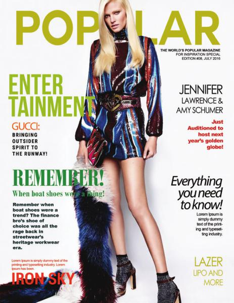 POPULAR MAGAZINE - The Sneak Peek (End of Summer Issue 2016) Jul. 2016