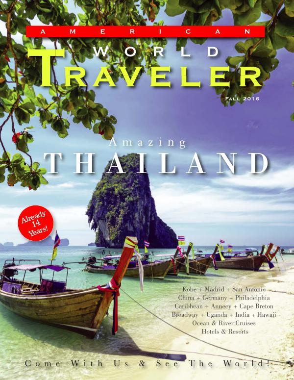 Canadian World Traveller Fallr 2016 issue American World Traveler Fall 2016 issue
