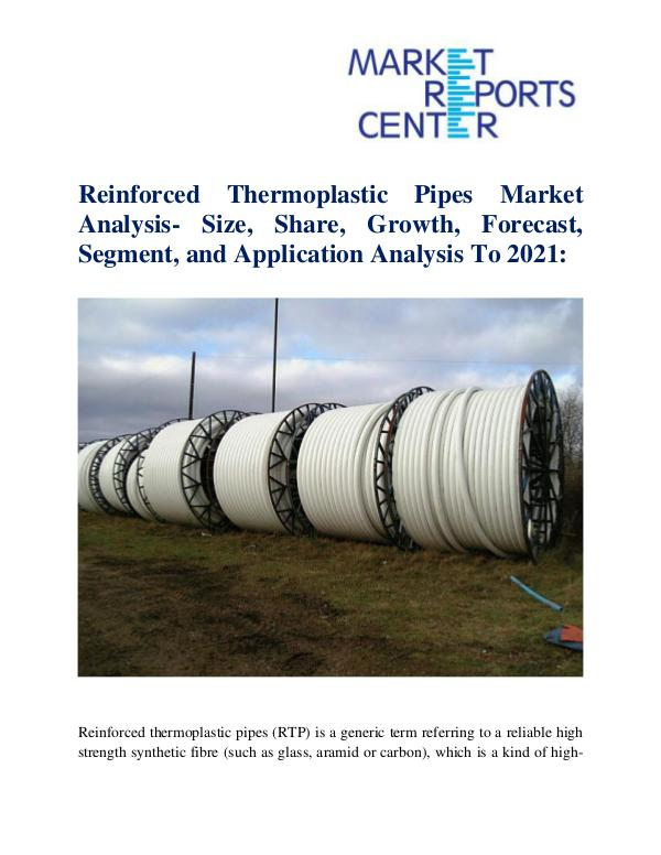 Market Research Reports Reinforced Thermoplastic Pipes Market