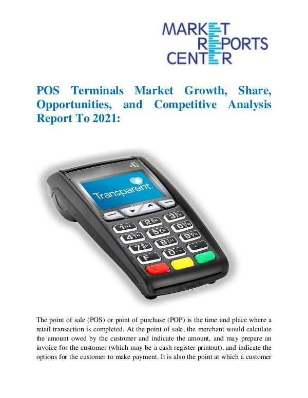 Market Research Reports POS Terminals Market