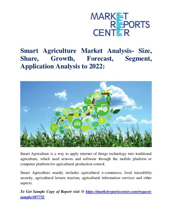 Market Research Reports Smart Agriculture Market