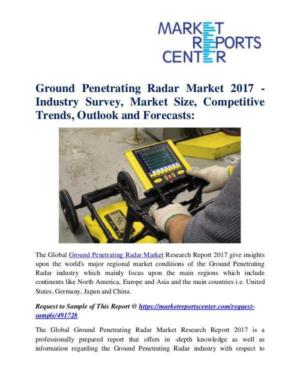 Market Research Reports Ground Penetrating Radar Market