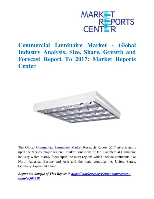 Market Research Reports Commercial Luminaire Market