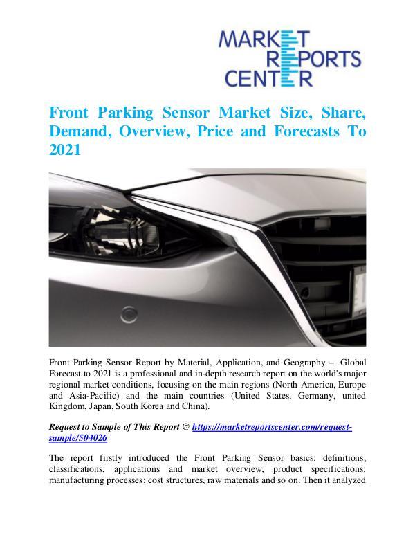 Market Research Reports Front Parking Sensor Market
