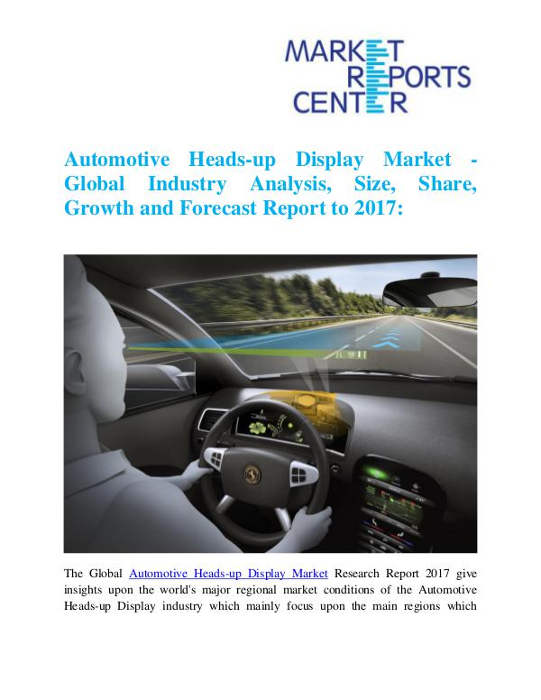Market Research Reports Automotive Heads-up Display Market