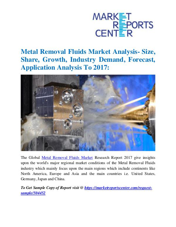Market Research Reports Metal Removal Fluids Market