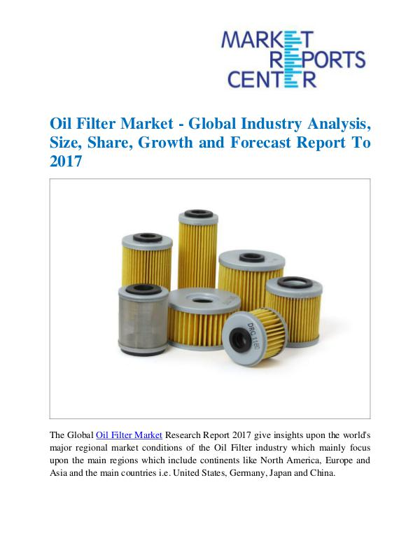 Market Research Reports Oil Filter Market
