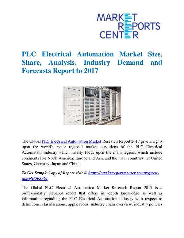 Market Research Reports PLC Electrical Automation Market
