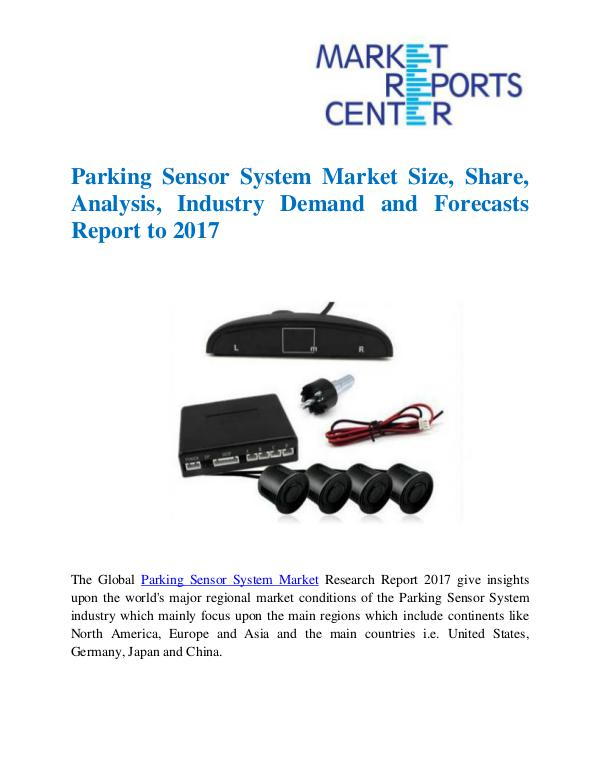 Market Research Reports Parking Sensor System Market