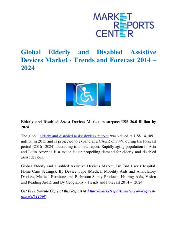 Market Research Reports Global Elderly and Disabled Assistive Devices Mark