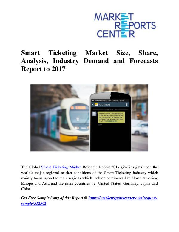 Market Research Reports Smart Ticketing Market