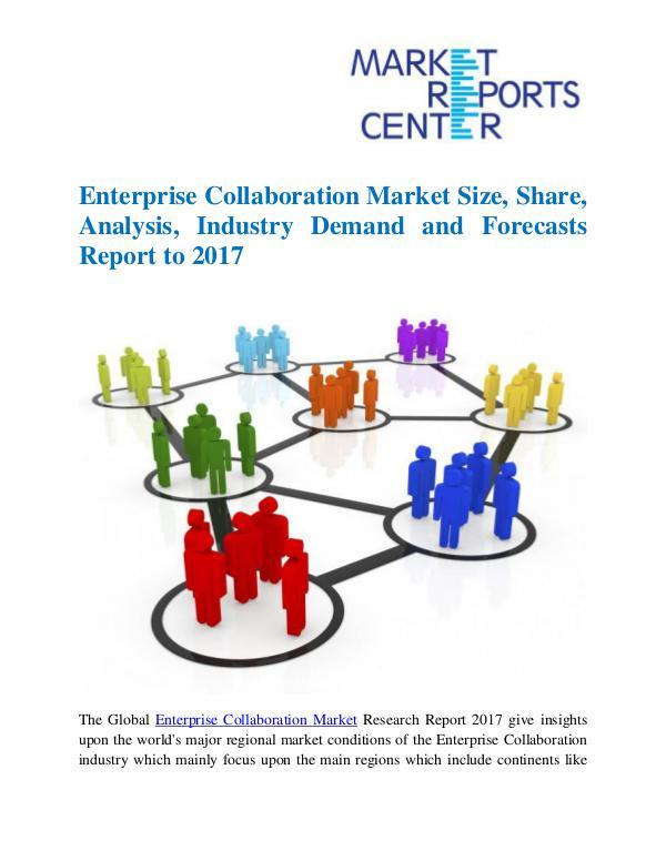 Market Research Reports Enterprise Collaboration Market