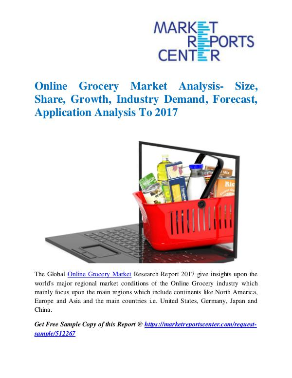 Market Research Reports Online Grocery Market