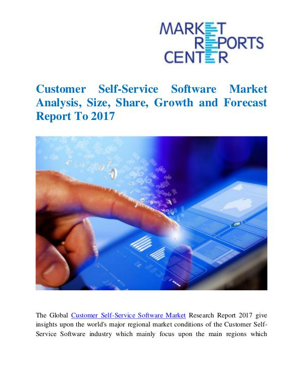 Market Research Reports Customer Self-Service Software Market