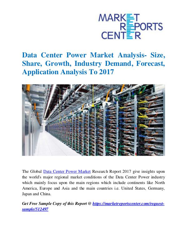 Market Research Reports Data Center Power Market