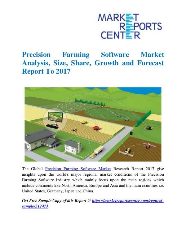 Market Research Reports Precision Farming Software Market