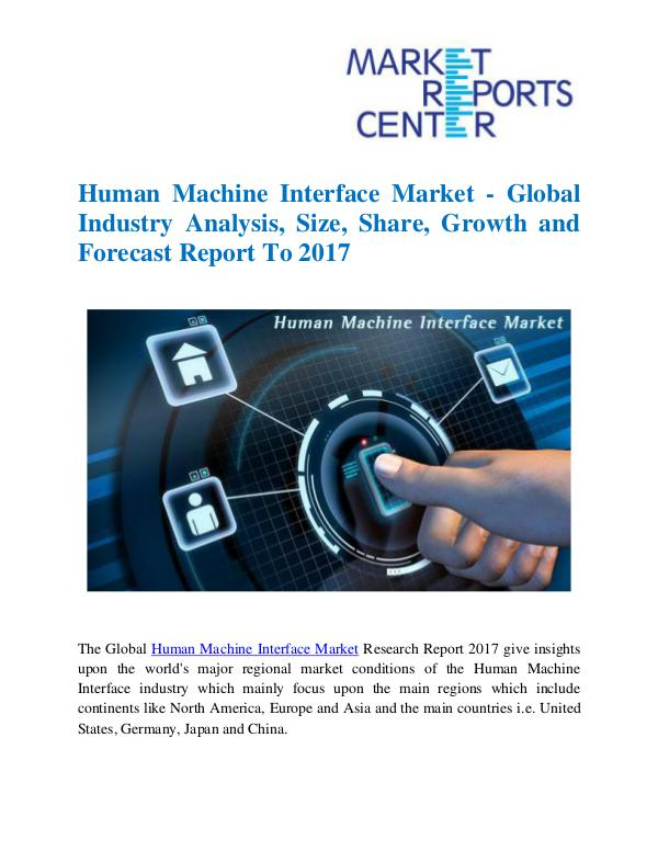Market Research Reports Human Machine Interface Market