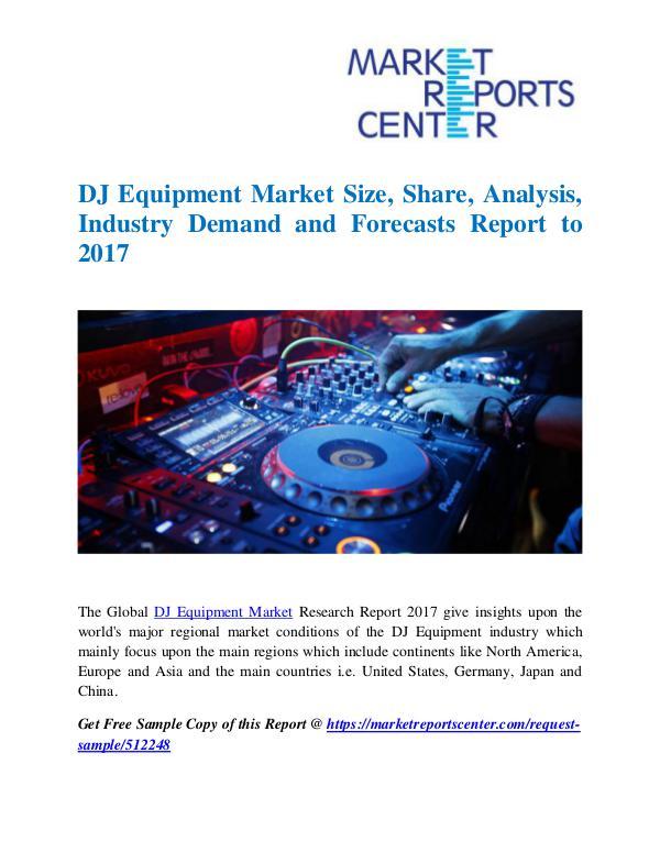 Market Research Reports DJ Equipment Market