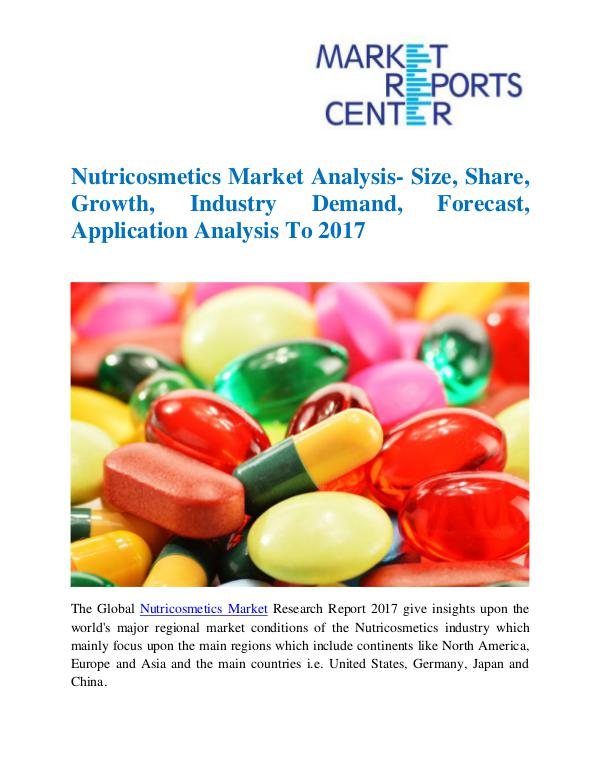Market Research Reports Nutricosmetics Market