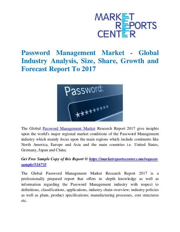 Market Research Reports Password Management Market