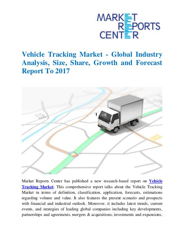 Market Research Reports Vehicle Tracking Market
