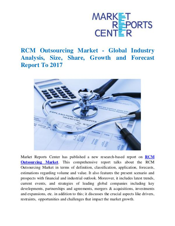 Market Research Reports RCM Outsourcing Market