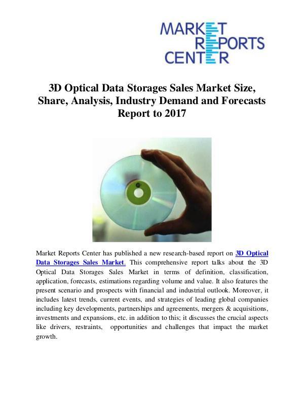 Market Research Reports 3D Optical Data Storages Sales Market