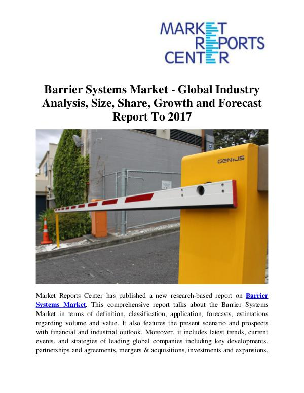 Market Research Reports Barrier Systems Market