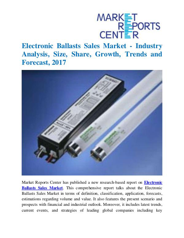 Market Research Reports Electronic Ballasts Sales Market