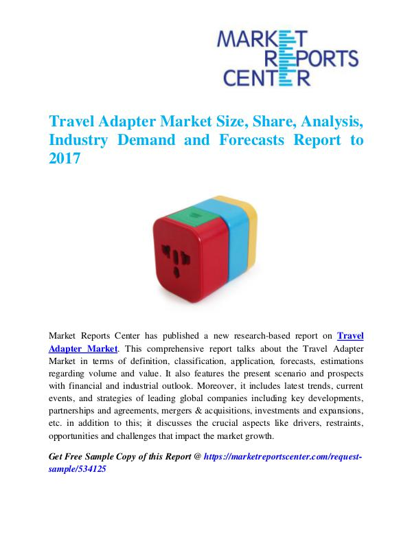 Market Research Reports Travel Adapter Market