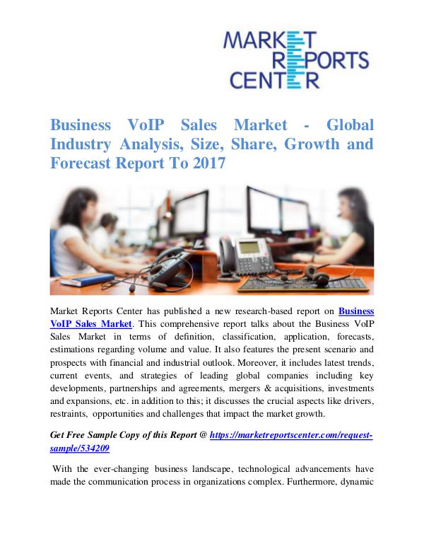 Market Research Reports Business VoIP Sales Market