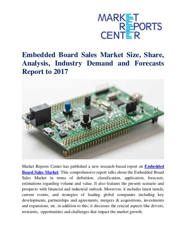 Embedded Board Sales Market