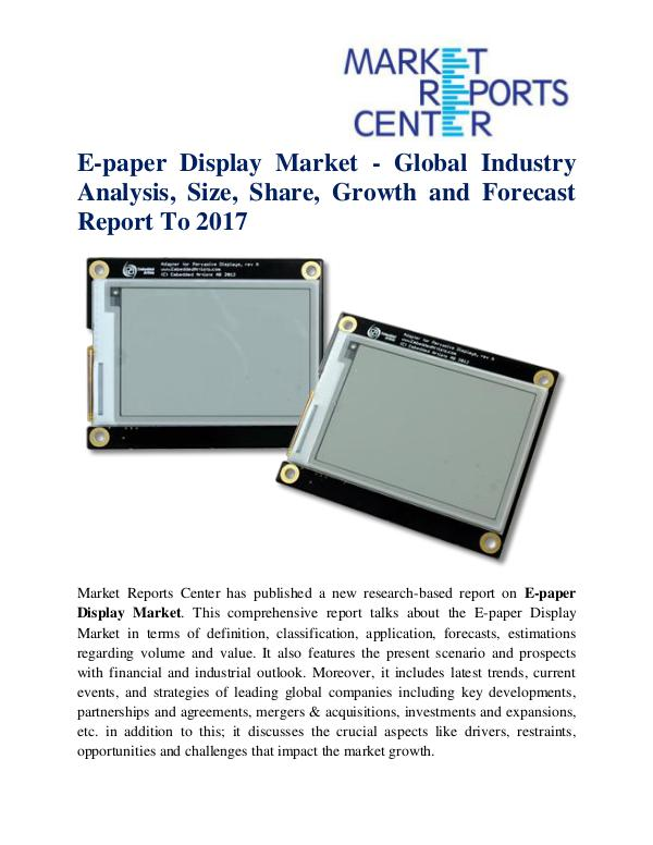 E-paper Display Market