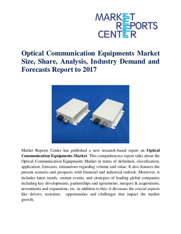 Optical Communication Equipments Market